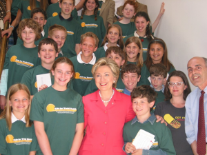 Founders with Hillary Clinton