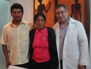 Benita, her husband Salomon and Dr. Vela, her cardiologist